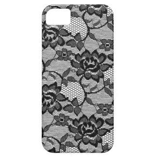 Negro floral del cordón 311 iPhone 5 carcasa