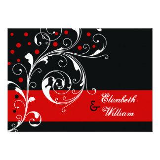 Negro floral elegante de la hoja de la voluta bod