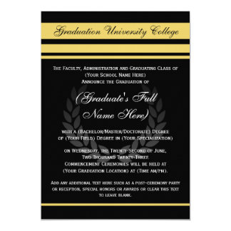 Negro formal del ~ de las invitaciones de la invitación 12,7 x 17,8 cm