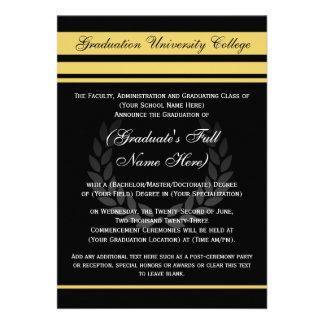 Negro formal del ~ de las invitaciones de la gradu anuncio