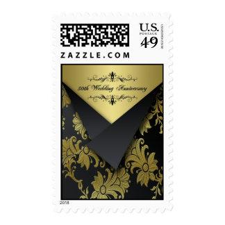 Negro, franqueo del aniversario de boda del oro 50
