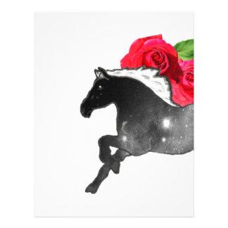 Negro fresco del caballo de Galazy + Nebulosa Membrete Personalizado