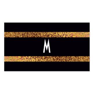Negro fresco/reserva elegante retra moderna del tarjetas de visita