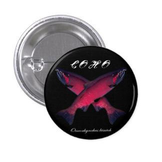 Negro-Freza de color salmón del botón Pin Redondo De 1 Pulgada
