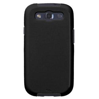 Negro Samsung Galaxy S3 Cárcasa