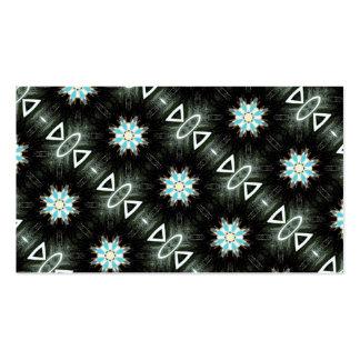 negro geométrico de las estrella-explosiones tarjetas de visita