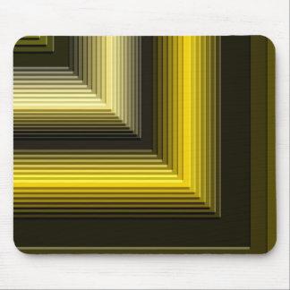 negro geométrico del amarillo del modelo alfombrilla de raton