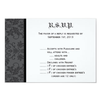 negro Gothi formal gris de la tarjeta de Invitaciones Personalizada