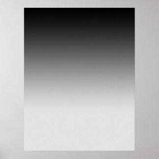 Negro graduado al poster gris para la fotografía