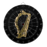 Negro gráfico ring.png de la arpa adornada tablero dardos