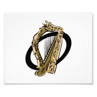 Negro gráfico ring png de la arpa adornada fotografias