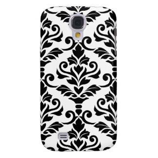 Negro grande del modelo del damasco de Cresta en Carcasa Para Galaxy S4