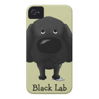 Negro grande Labrador de la nariz iPhone 4 Cobertura