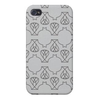 Negro gris de Avante Garde iPhone 4 Cárcasa