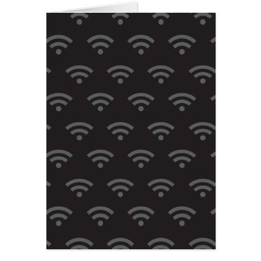 Negro gris de Wifi Tarjeta