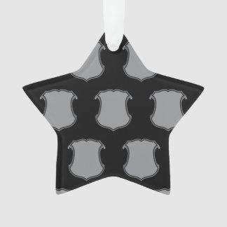 Negro gris del escudo del escudo