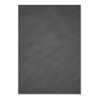 Negro gris del tablero de tiza del fondo gris de invitación 8,9 x 12,7 cm