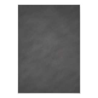 """Negro gris del tablero de tiza del fondo gris de invitación 3.5"""" x 5"""""""
