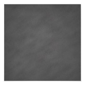 """Negro gris del tablero de tiza del fondo gris de invitación 5.25"""" x 5.25"""""""