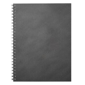 Negro gris del tablero de tiza del fondo gris de libretas