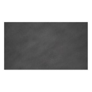 Negro gris del tablero de tiza del fondo gris de tarjetas de visita