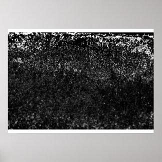 negro herboso póster