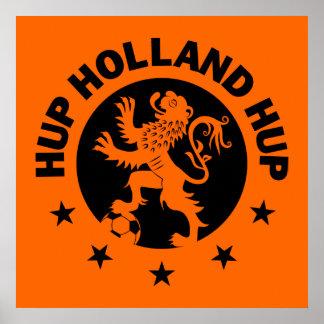 Negro Hup Holanda - color de fondo Editable Póster