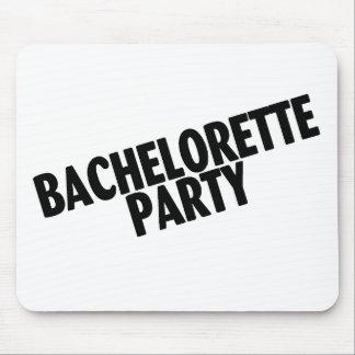 Negro inclinado fiesta de Bachelorette Alfombrillas De Raton