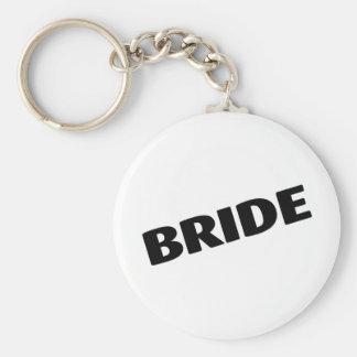 Negro inclinado novia llavero redondo tipo pin