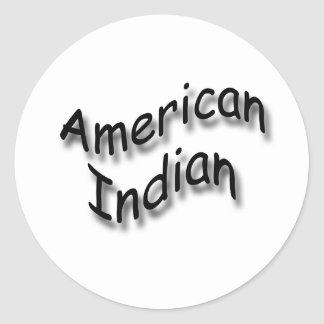 Negro indio americano pegatinas redondas