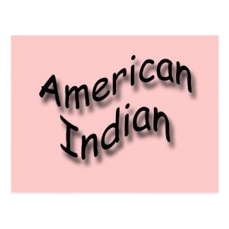 Negro indio americano postal