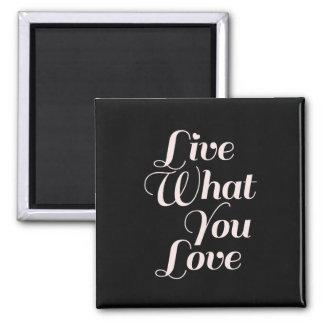 Negro inspirado de los regalos de la cita del amor imanes para frigoríficos