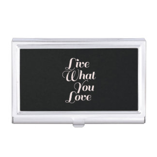 Negro inspirado del regalo de la cita del amor cajas de tarjetas de negocios