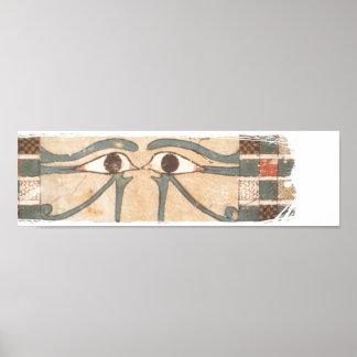 Negro interno del ataúd de Amenhotep Póster