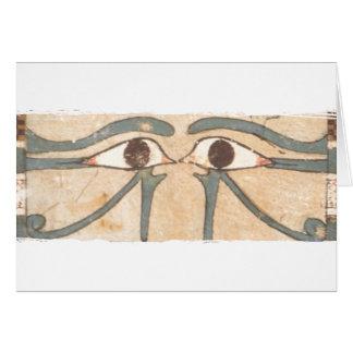 Negro interno del ataúd de Amenhotep Tarjeta De Felicitación