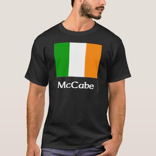 Negro irlandés de la bandera de McCabe Playera