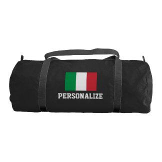 Negro italiano personalizado del bolso el | del bolsa de deporte