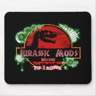 Negro jurásico de Mods MousePad Tapetes De Ratón