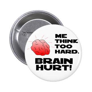 Negro lastimado del cerebro pins