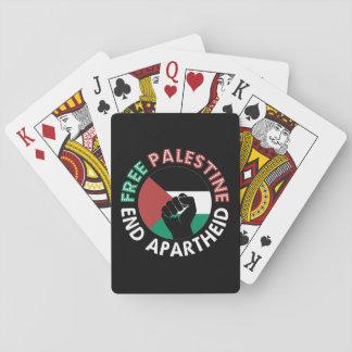 Negro libre del puño de la bandera del apartheid cartas de juego