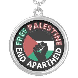 Negro libre del puño de la bandera del apartheid joyerias