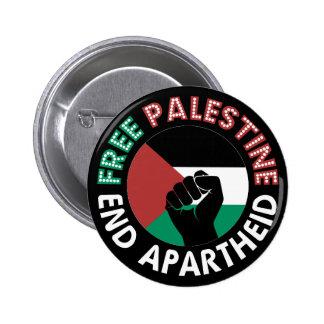 Negro libre del puño de la bandera del apartheid pin redondo de 2 pulgadas