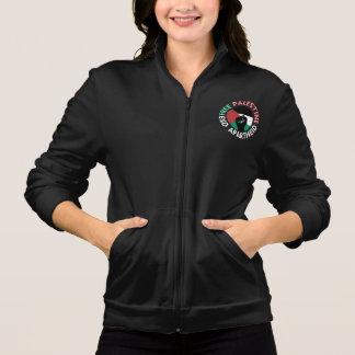 Negro libre del puño de la bandera del apartheid chaqueta imprimida