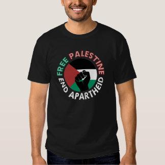 Negro libre del puño de la bandera del apartheid poleras