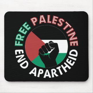Negro libre del puño de la bandera del apartheid tapete de ratón
