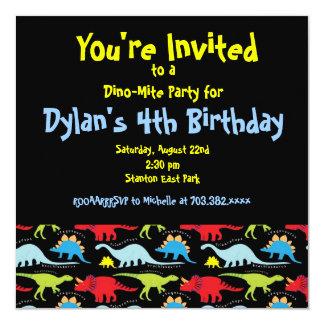 Negro lindo de las invitaciones de la fiesta de anuncio personalizado