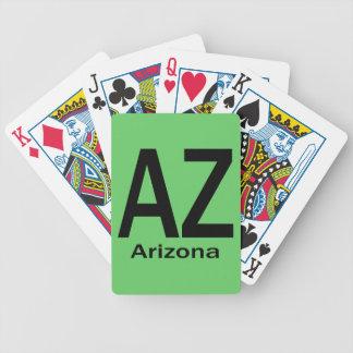 Negro llano de AZ Arizona Barajas De Cartas