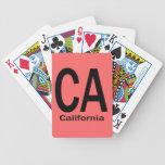 Negro llano de CA California Baraja De Cartas