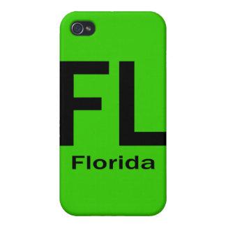 Negro llano de FL la Florida iPhone 4 Protector