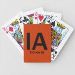 Negro llano de IA Iowa Baraja Cartas De Poker
